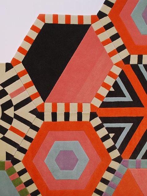 Kinder Ground Modular Carpeting Tribal Patterns, Textile Patterns, Textile Art, Quilt Patterns, Textile Design, Textiles, Art After Dark, Color Schemes Colour Palettes, Abstract Geometric Art