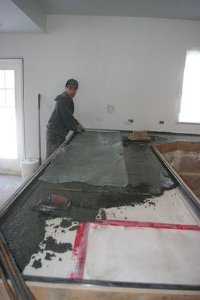 Tausend Quadratmeter Diy Beton Arbeitsplatten Arbeitsplatte Betonkuche Kuche Selber Bauen