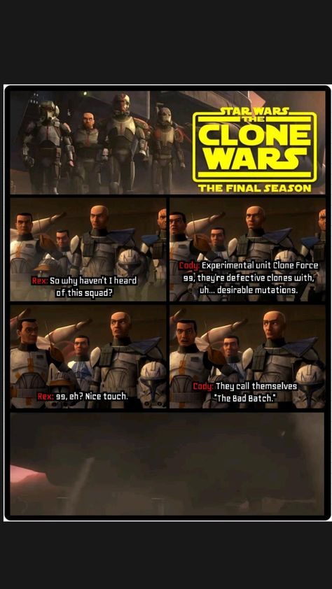 Star Wars: The Clone Wars. [Season 7, Episode-1 (The Bad Batch)]. Rex know about Bad Batch.