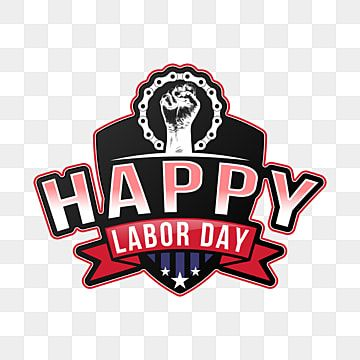 Happy Labor Day Png Typography Banner Poster Business Png And Vector With Transparent Background For Free Download Happy Labor Day Creative Typography Vintage Typography