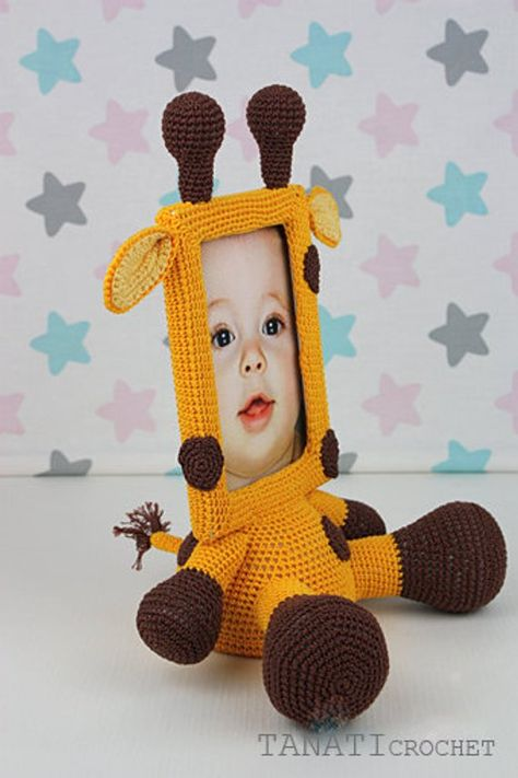Crochet Pattern Of Photo Frame Giraffe Tutorial Pdf File Etsy