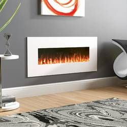 Lauderhill Wall Mounted Electric Fireplace Wall Mount Electric