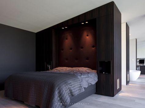 Mooie oplossing voor hoofdbord!! slaapkamerinspiratie pinterest