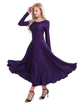 Womens Adult Spaghetti Strap Chiffon Liturgical Ballet Dance Contemporary Dress