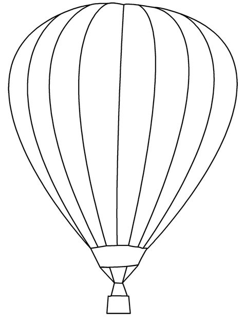 Flying Hot Air Balloons Coloring Pages For Kids Sicak Hava