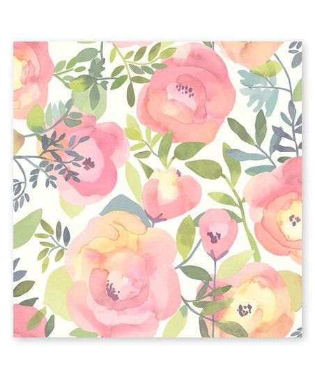 Wallpops Peachy Keen Pink Peel Stick Wallpaper Zulily Floral Wallpaper Pink Removable Wallpaper Peel And Stick Wallpaper
