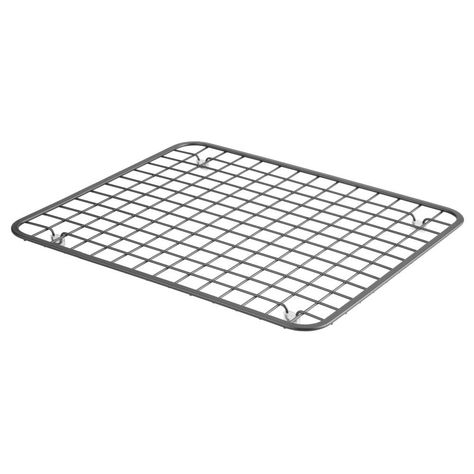 Metal Grid Kitchen In Sink Protector Mat Drying Rack In Chrome 11