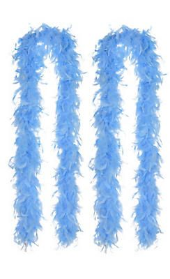 Light Blue Feather Boas 2ct Blue Accessories Blue Feather Blue