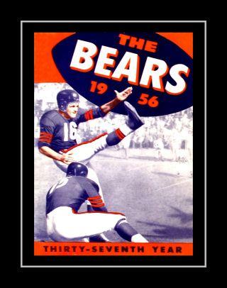 Vintage 1956 Chicago Bears Art Poster Gift Football Game Day Program Cover Art Nfl Fan Wall Decor In 2020 Bear Wall Art Sports Wall Art Football Wall Art