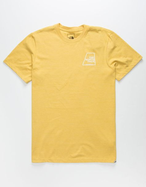 The North Face Logo Marks Triblend Mens T Shirt Gold 361252621 In 2020 Mens Tshirts Logo Mark T Shirt Image