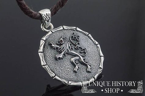 611f828986ef48 House Lannister Pendant Game of Thrones Jewelry Sterling