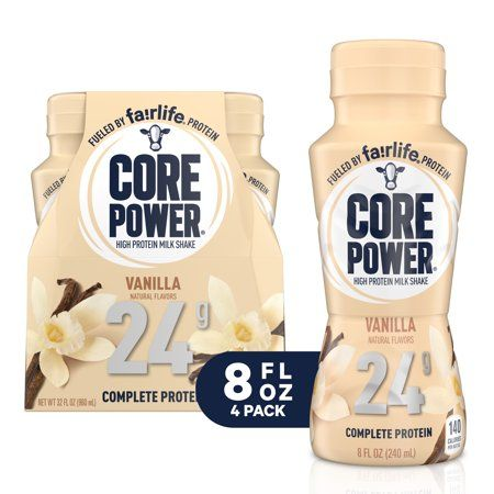 Core Power 8 Fl Oz 4 Pack 24g Vanilla Core Power Protein Drink By Fairlife Milk Walmart Com In 2020 Protein Drinks Protein Power Fairlife