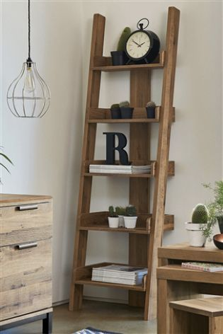 Light Oak Effect Bronx Ladder Shelves Ladder Shelf Decor Home Office Design Home Office Decor