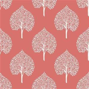 Nuwallpaper Treetops Wallpaper Lowe S Canada Coral Wallpaper Nuwallpaper Peel And Stick Wallpaper