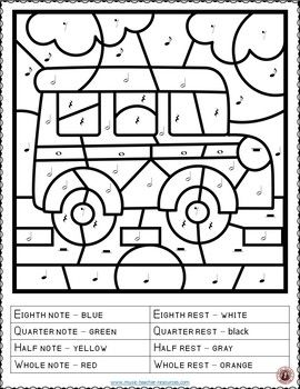 Music Coloring Pages: 15 SCHOOL Themed Music Coloring Sheets ...
