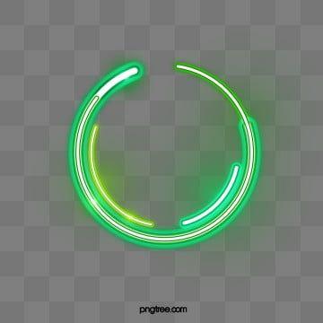 Green Effect Double Deck Circular Neon Border Neon Png Geometric Vector Paint Splash