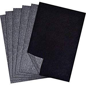 Libertry Carbon Transferpapier Verfolgung Fur Holz Papier Leinwand 25 Blatt Glatte Kuche Haushalt Wohnen Leinwand Papier Holz