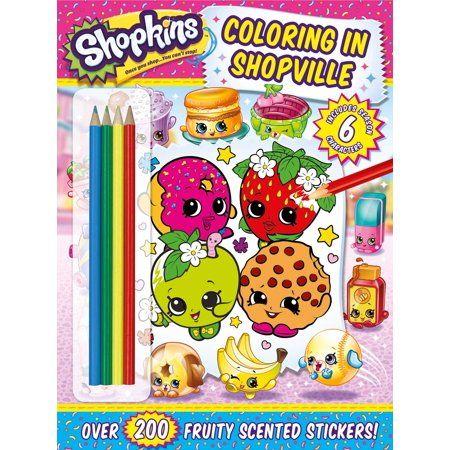 Shopkins Coloring In Shopville Walmart Com Shopkins Shopkins Books Color