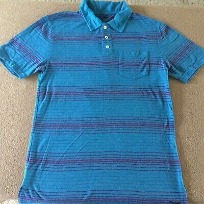 Men S On The Byas Polo Shirt Size Small Blue Striped Short Sleeves Fashion Clothing Shoes Accessories Men Mensclothing Ebay In 2020 Shirts Polo Shirt Shirt Size
