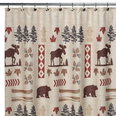 North Ridge 70 W X 72 L Shower Curtain Brown Tan Holiday