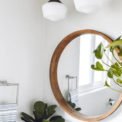Mirror Wall Decor Round Wooden, Round Mirror Wall Decor Wood