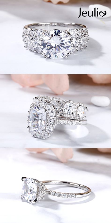 Different Styles of Engagement Rings Can Express Your Unique Flair And Style. Whichever Style of Engagement Rings You Like, Jeulia Can Satisfy Your Demand. 100% Handcrafted. #JeuliaJewelry#EngagementRing