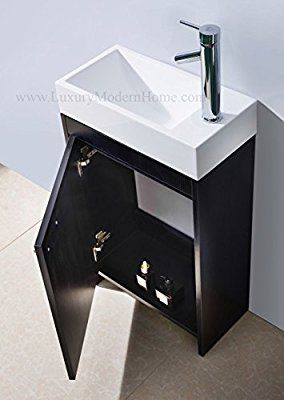 Vs Alexius 2 20 X 10 Inch Small Freestanding Vanity Sink Bathroom Modern Contemporary Narrow Tiny Short Modern Bathroom Sink Modern Bathroom Vanity Sink
