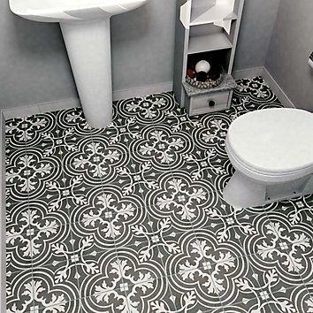 Merola Tile Twenties Classic 7 3 4 Inch X 7 3 4 Inch Ceramic Floor And Wall Tile 11 Sq Ft Case The Home Depot Canada Ceramic Floor Tiles Flooring