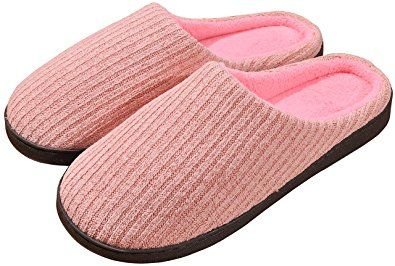 3988cb7579757 Beurlike Women's Winter Memory Foam House Slippers Cute Cozy Warm ...