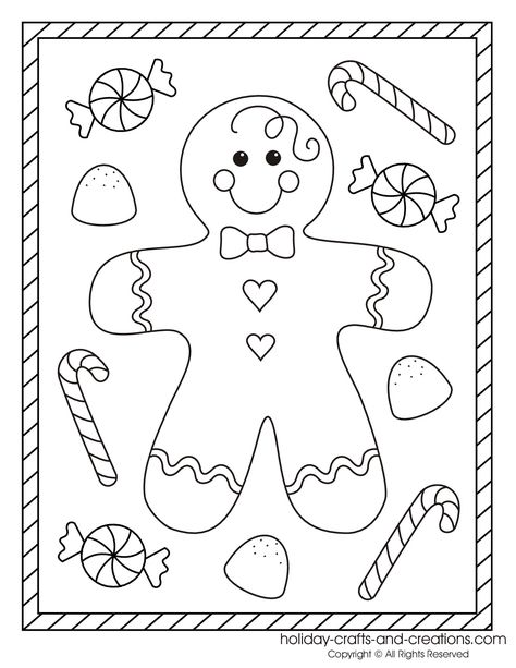 Tibiscuit à colorier friandises Pinterest Gingerbread, Craft - gingerbread man template