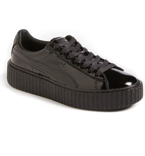 Puma Fenty X Puma by Rihanna Cracked Leather Creeper (470 BRL) ❤ liked on Polyvore  featuring shoes 8242b7c06