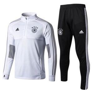 Entrenamiento Kits Alemania 2018 Blanco Cuello Alto Camiseta De Alemania Camisetas Pantalones Largos