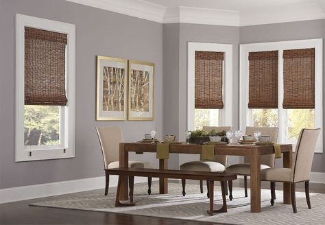 Custom Home Collection Budget Woven Wood Shade | Homedepot.com