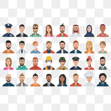 Characters Avatars Set In 2021 Avatar Person Icon Womens Professional Suits