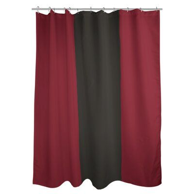 East Urban Home Arizona Striped Shower Curtain Liner Color Brick