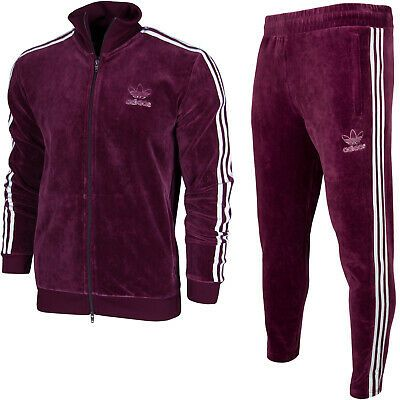 Ebay Sponsored Adidas Originals Beckenbauer Velour Superstar Mens Full Velvet Tracksuit Trefoil Velvet Tracksuit Tracksuit Stripes Fashion