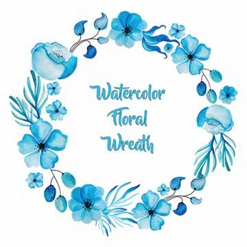 Watercolor Floral Wreath Floral Ornamnets Boho Png And Vector