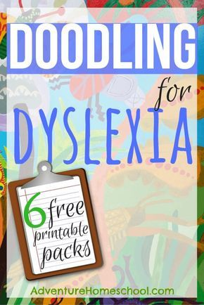6 FREE Printable Doodling for Dyslexia Packs (Not Just For the Child with Dyslexia) - Homeschool Giveaways Dyslexia Activities, Dyslexia Strategies, Dyslexia Teaching, Learning Disabilities, Teaching Kids, Reading Strategies, Nanny Activities, Dyscalculia, Dysgraphia Symptoms