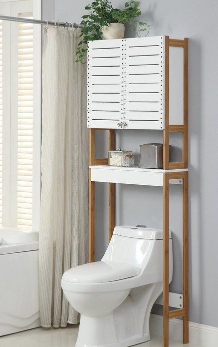37 Advantages Of Over The Toilet Storage Shelves And Cabinets