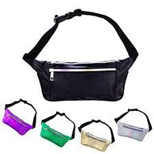 f9797fa03a09 iAbler Holographic Fanny Pack for Women and Men Metallic 80s ...