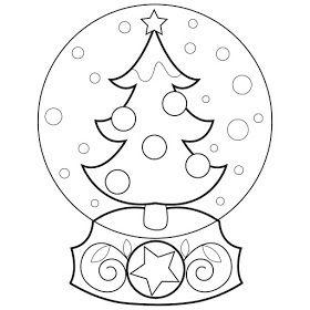 Snow Globe Designs Boyama Sayfalari Sanat Etkinlikleri Sanat