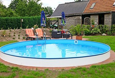 Aufbau Von Stahlwand Pools In 9 Schritten Poolselberbauen Rundpool Aufbau Ergebnis Natural Pool In Ground Pools Pool