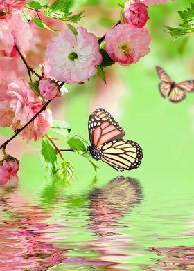 Pink Butterfly Poster By Word Fandom Displate In 2021 Ipad Air Wallpaper Butterfly Wallpaper Flower Wallpaper Flower wallpaper for ipad air