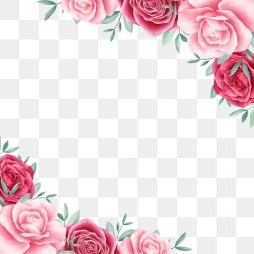 Beautiful Watercolor Flowers Border For Wedding Or Greeting Card Composition Flower Border Clipart Flowers Invitation Png Transparent Clipart Image And Psd F In 2021 Flower Border Clipart Pink Flowers Background Watercolor