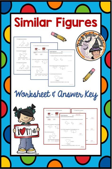 Similar Figures Worksheet Answer Key Answer Keys Worksheets Proportional Relationships