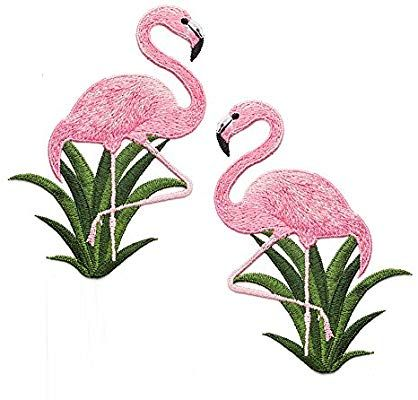 Flamingo Feelaa Kleidung Aufn/äher DIY Patch Applikation Stickerei f/ür Jeans Hosen Jacken