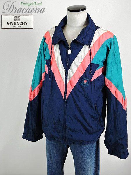 古着 ジャケット givenchy ジバンシー ナイロン ジャケット クレイジー パターン 派手 xl 古着 通販 ヴィンテージ古着屋のドラセナ 古着 ジャケット ナイロンジャケット ジャケット