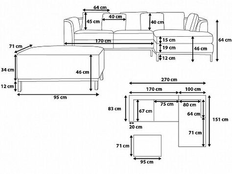 Belianide Wohnzimmer Moebel Design Sofa Schweiz Model Oslo Grau