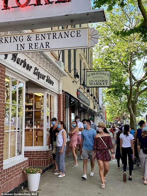 Meanwhile in the Hamptons, stores and restaurants are enjoying bustling trade from the wel...