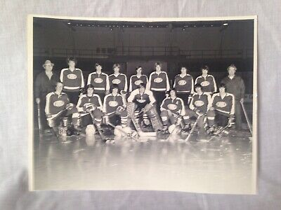 "Sponsored - Vintage 8"" X 10"" Hockey Team Photo Rouses Point Champlain Local team."